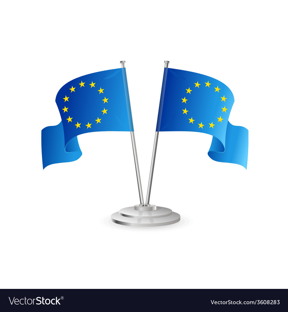 European union table flag isolated vector | Price: 1 Credit (USD $1)