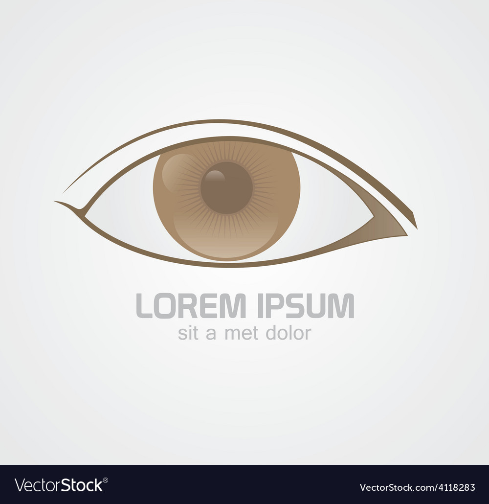 Eye brown logo vector | Price: 1 Credit (USD $1)