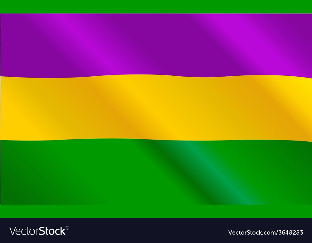 Mardi gras flag vector | Price: 1 Credit (USD $1)