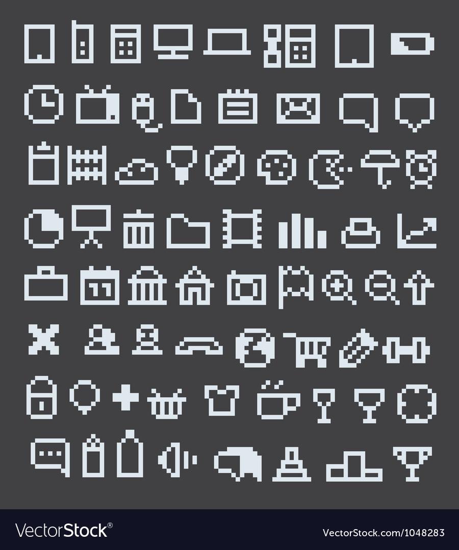 Pixel icons vector | Price: 1 Credit (USD $1)
