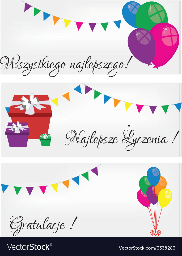 Postcards happy birthday vector | Price: 1 Credit (USD $1)