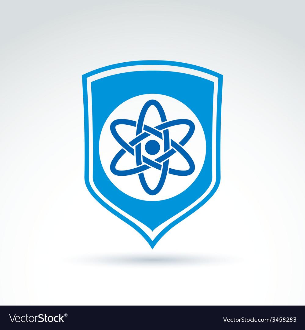 Science defending conceptual symbol icon with vector | Price: 1 Credit (USD $1)