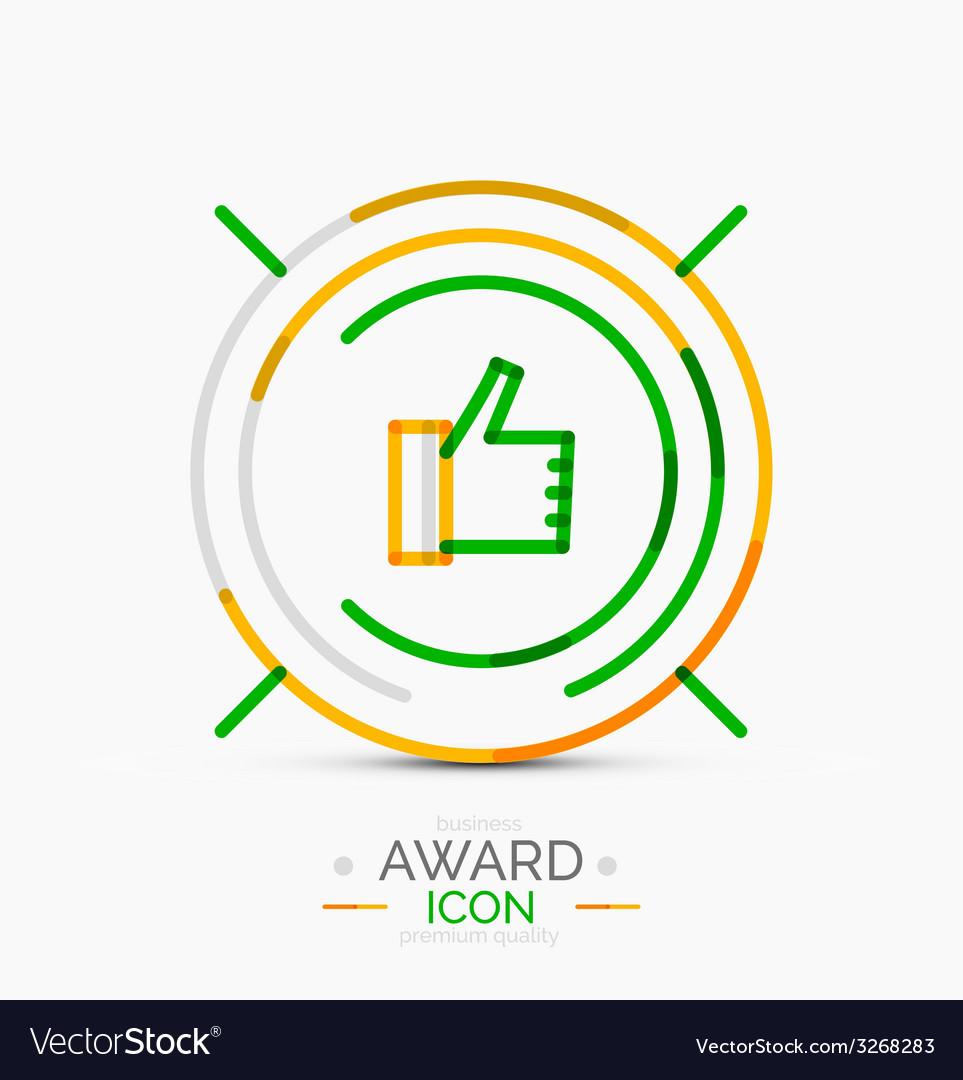 Thumb up icon logo design vector   Price: 1 Credit (USD $1)