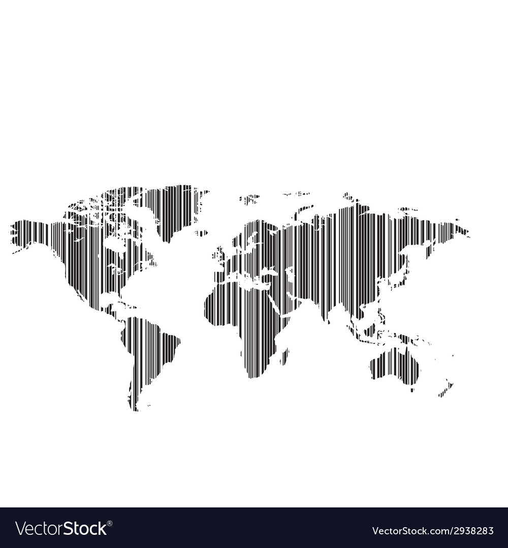World map as bar-code vector | Price: 1 Credit (USD $1)