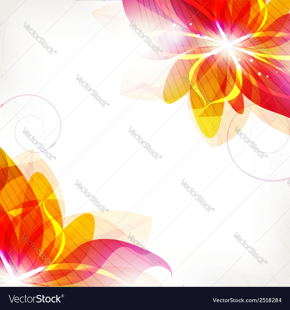 Abstract orange flowers vector | Price: 1 Credit (USD $1)