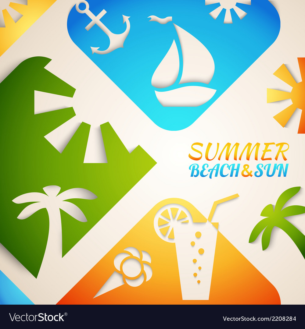 Abstract summer  bright beach vector | Price: 1 Credit (USD $1)