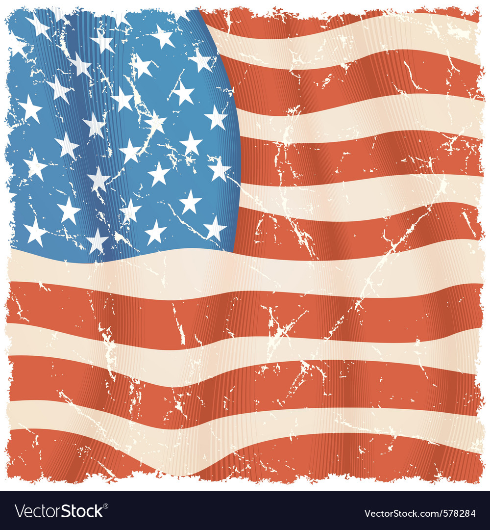 American flag theme torn grunge background vector | Price: 1 Credit (USD $1)