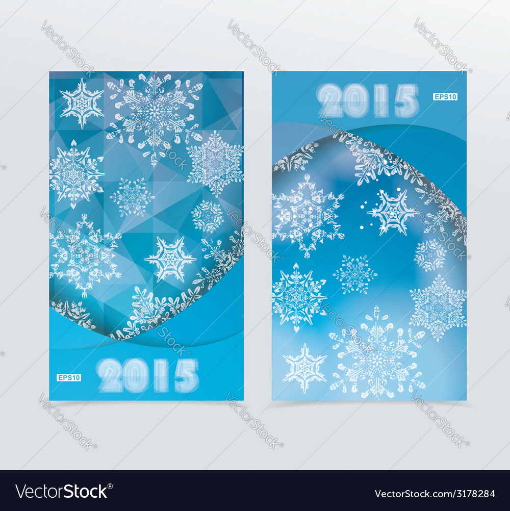 Banners with a blue winter background with vector | Price: 1 Credit (USD $1)