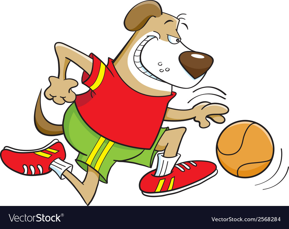 Basketball dog vector | Price: 1 Credit (USD $1)