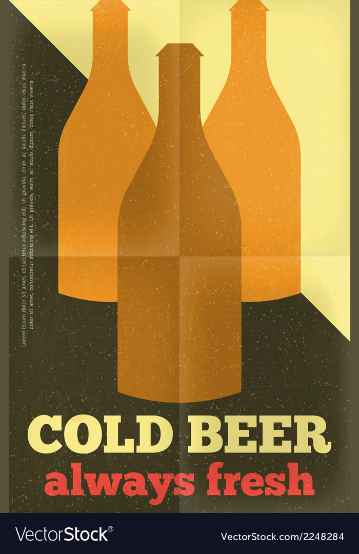 Beer poster bottles vector | Price: 1 Credit (USD $1)