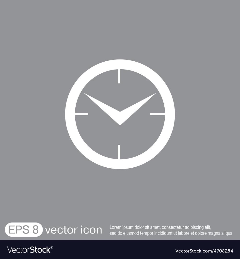 Clock icon watch symbol time vector | Price: 1 Credit (USD $1)