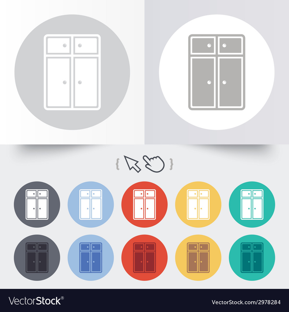 Cupboard sign icon modern furniture symbol vector | Price: 1 Credit (USD $1)