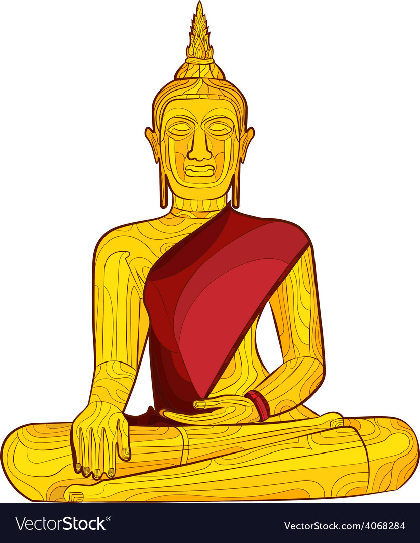 Decorative buddha statue vector | Price: 1 Credit (USD $1)