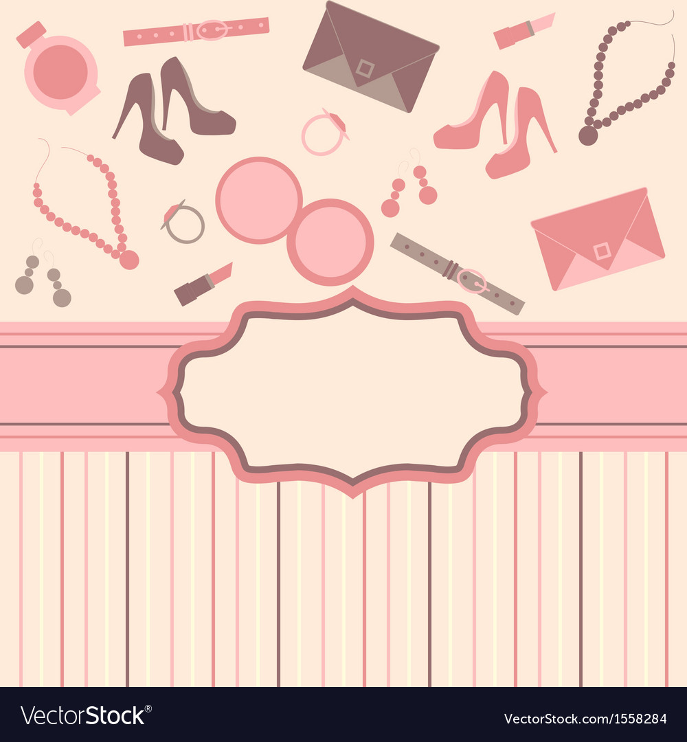 Fashion card background vector | Price: 1 Credit (USD $1)