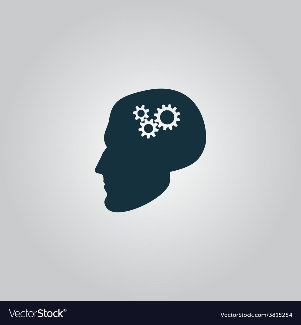 Human head gear hybrid knowledge vector | Price: 1 Credit (USD $1)