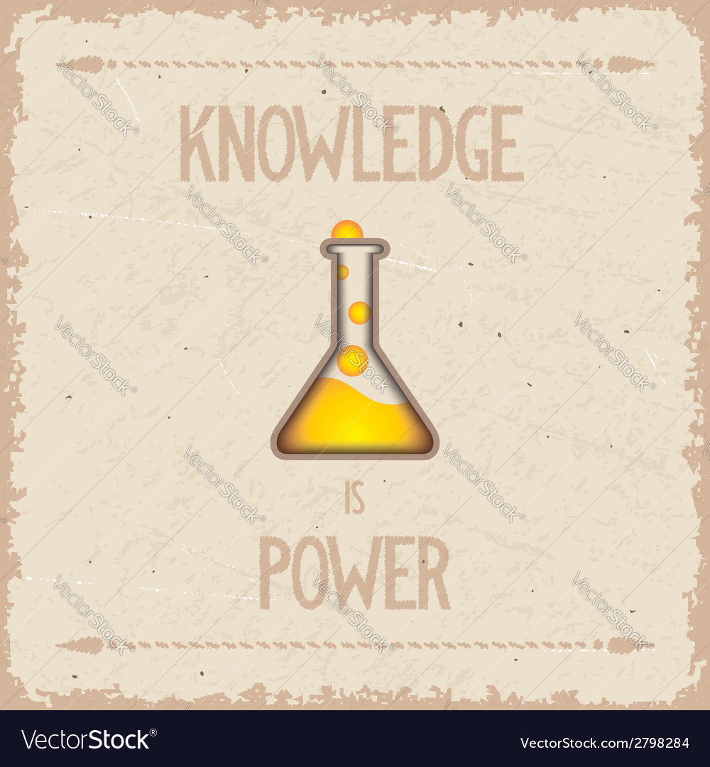 Knowledge is power vector | Price: 1 Credit (USD $1)