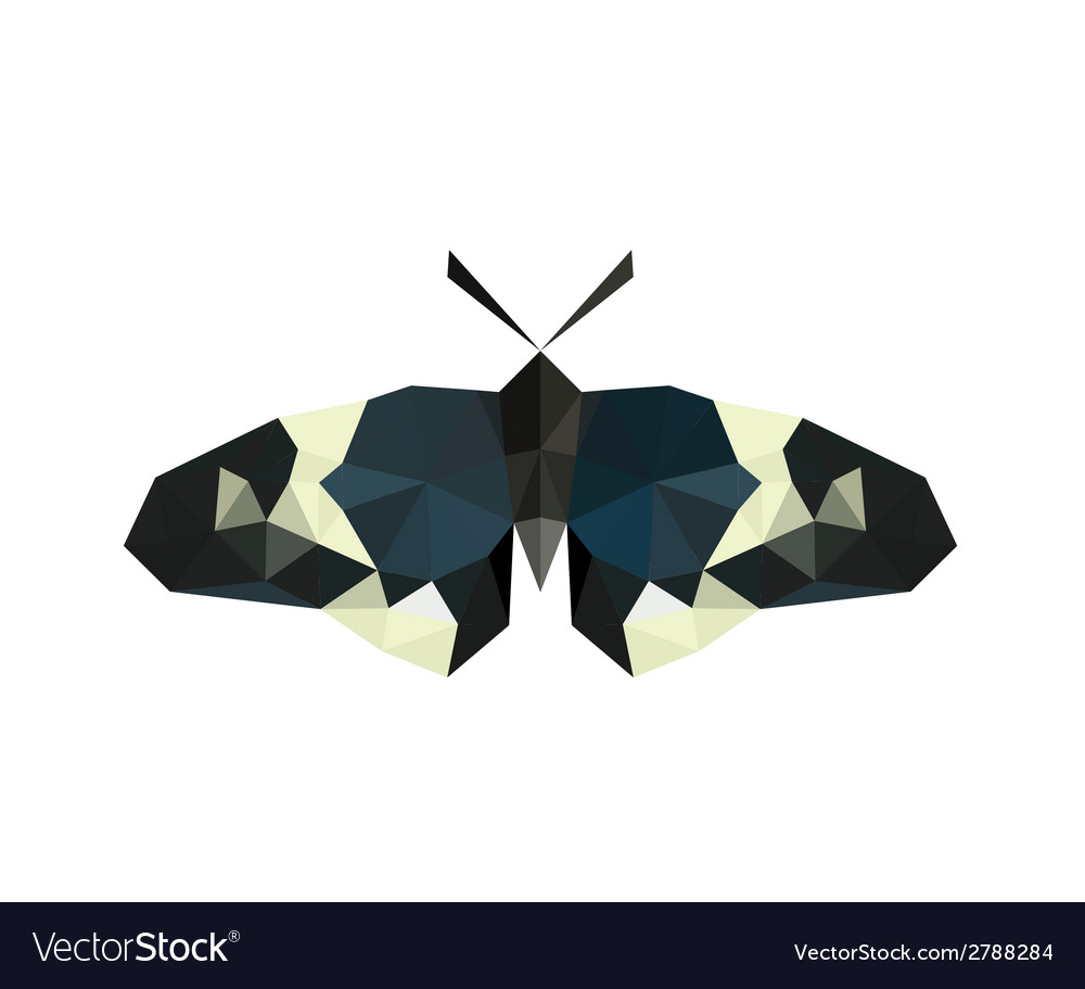 Origami butterfly isolated on white background vector | Price: 1 Credit (USD $1)