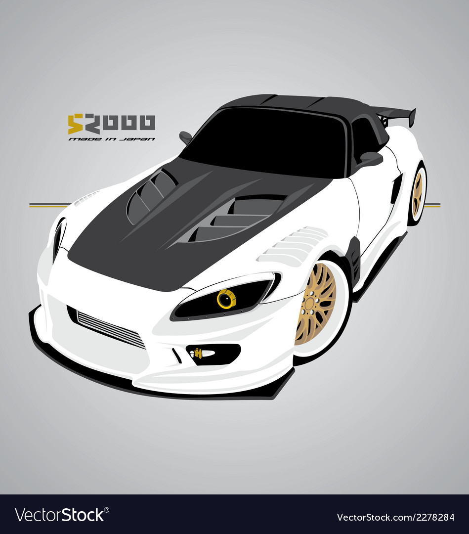 S2000 white vector | Price: 1 Credit (USD $1)