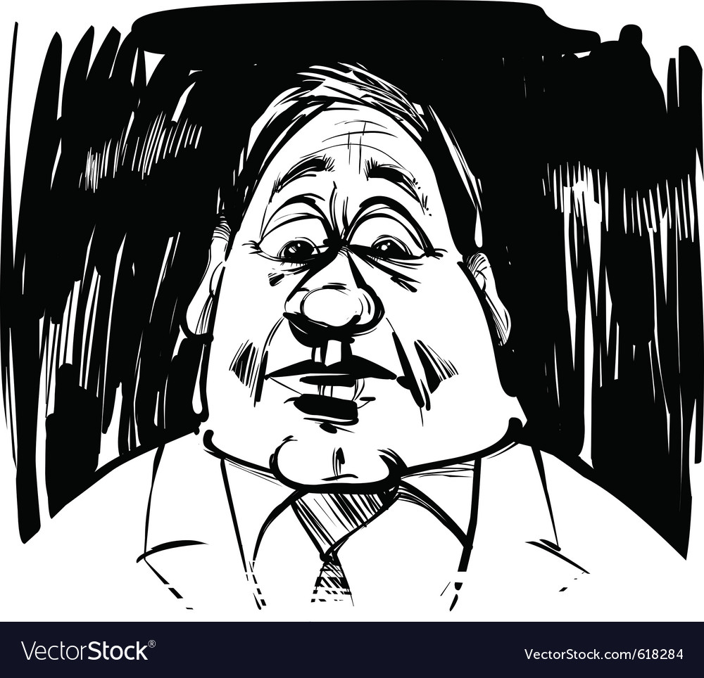 Startled man caricature sketch vector | Price: 1 Credit (USD $1)
