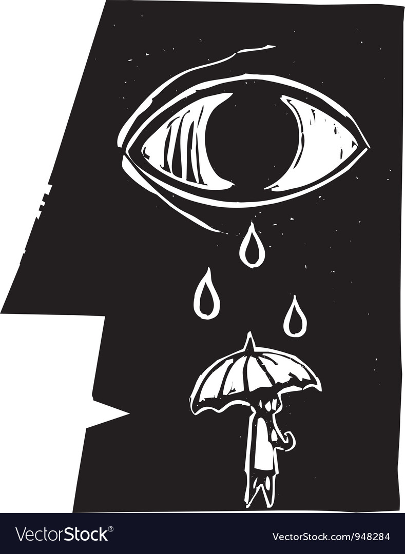 Umbrella tears vector | Price: 1 Credit (USD $1)
