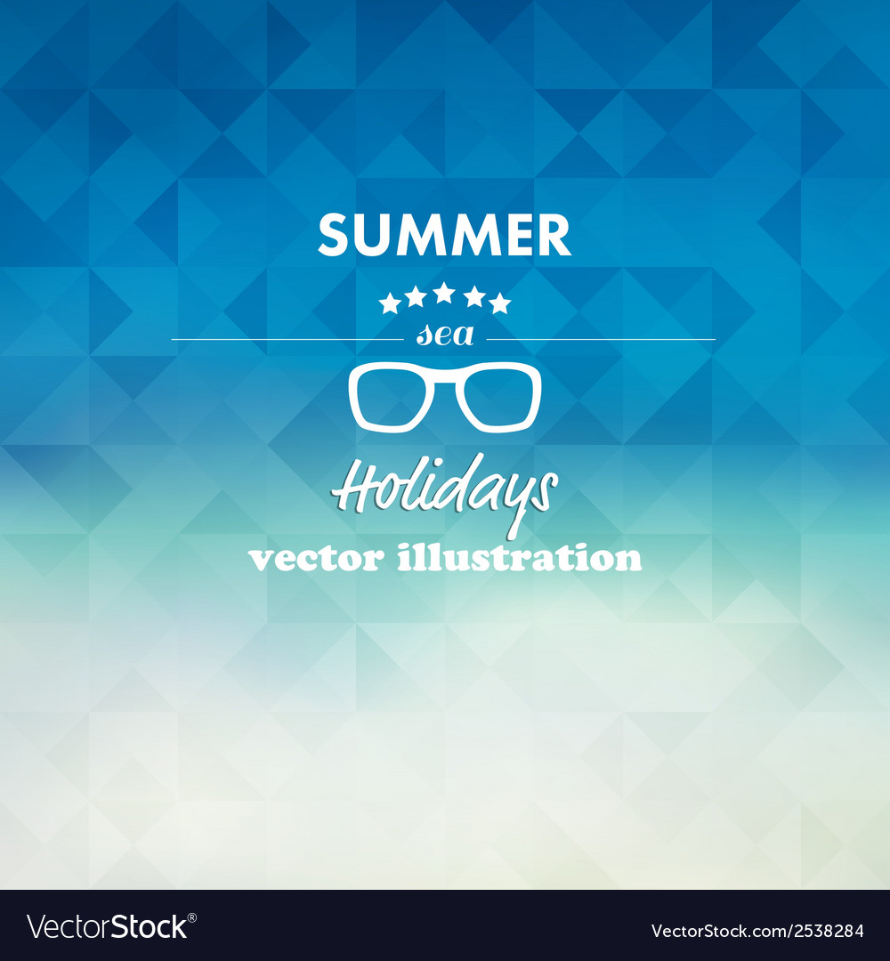 Vintage summer sea abstract background vector | Price: 1 Credit (USD $1)