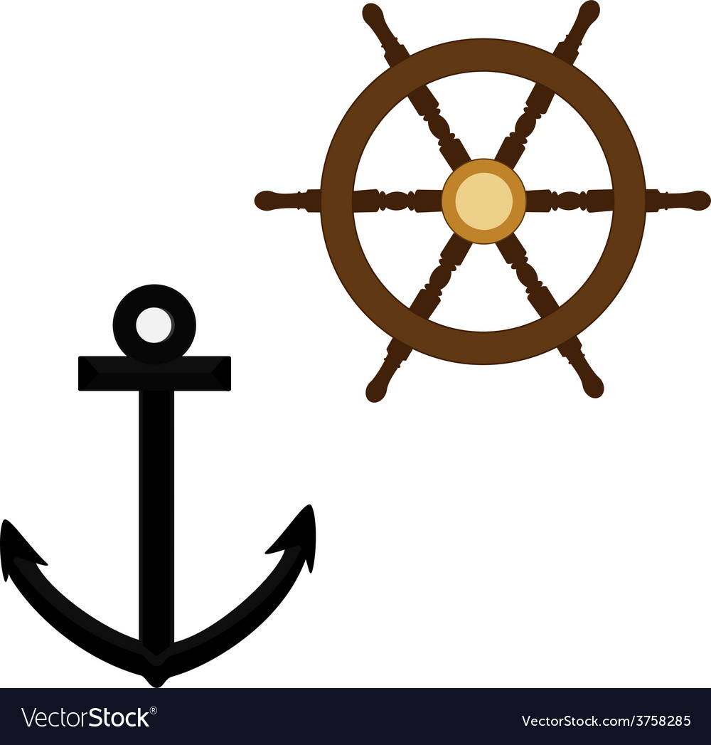 Anchor and wheel vector | Price: 1 Credit (USD $1)