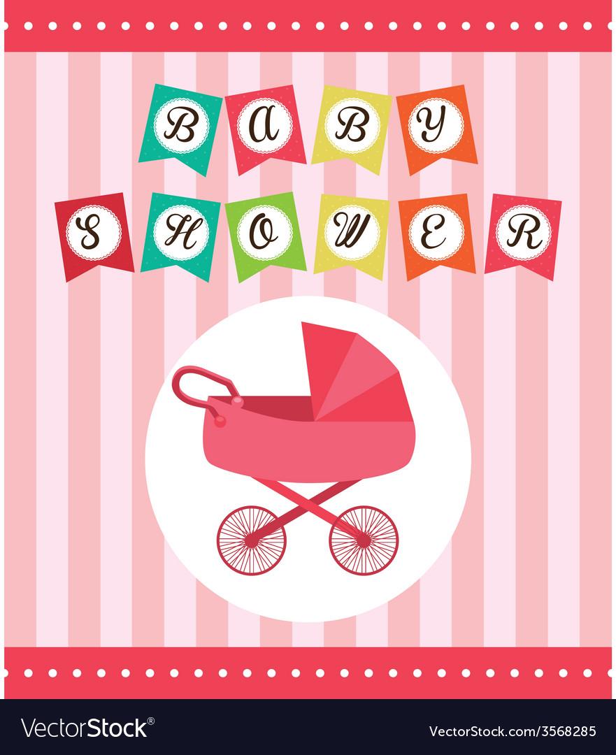 Baby shower design vector | Price: 1 Credit (USD $1)