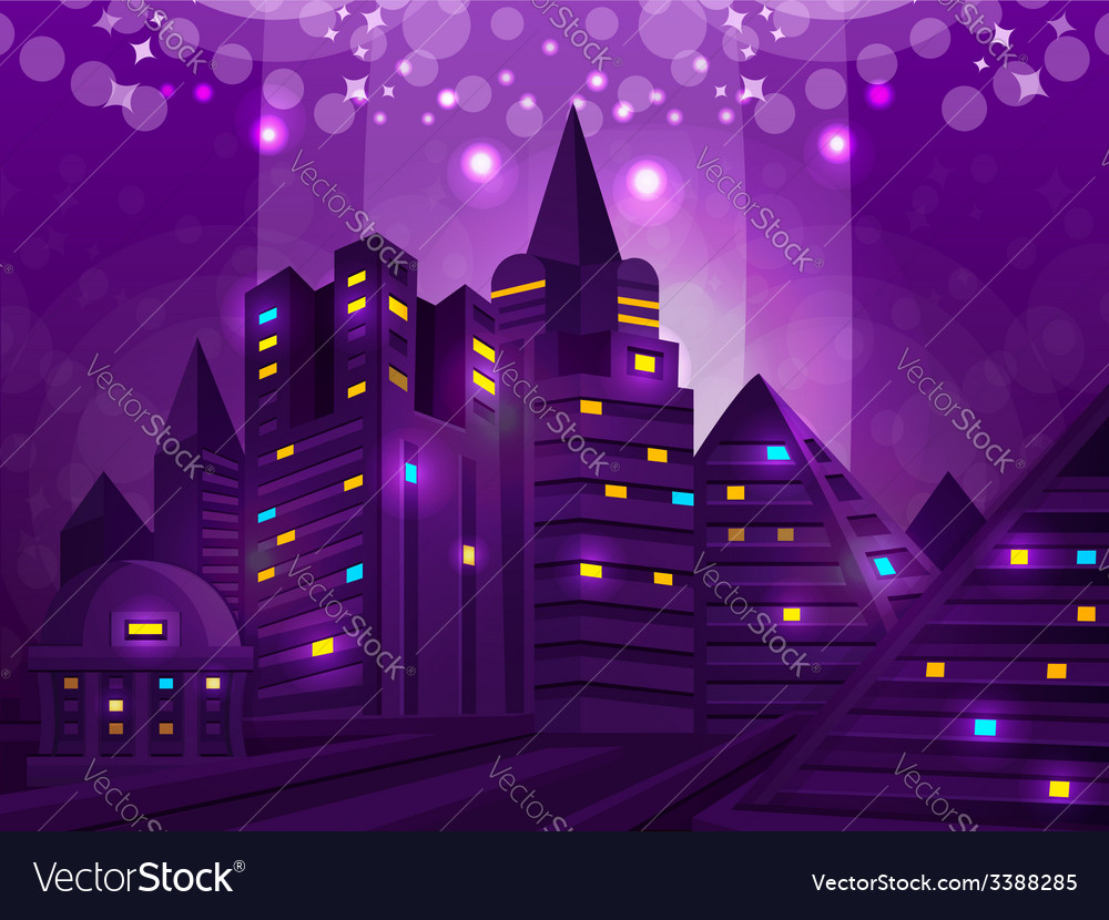 Background city vector | Price: 3 Credit (USD $3)