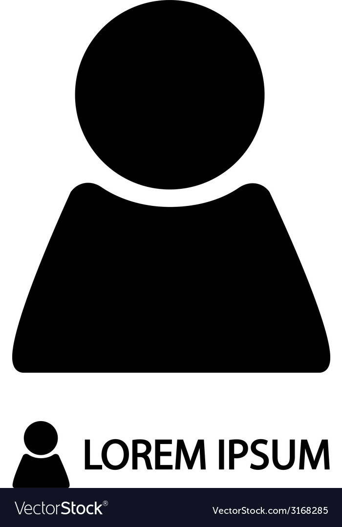 Black person sign vector | Price: 1 Credit (USD $1)