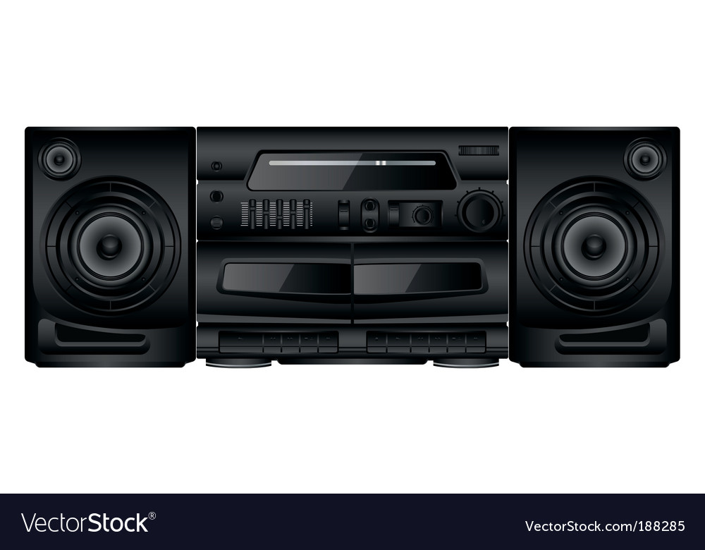 Boom box vector | Price: 1 Credit (USD $1)