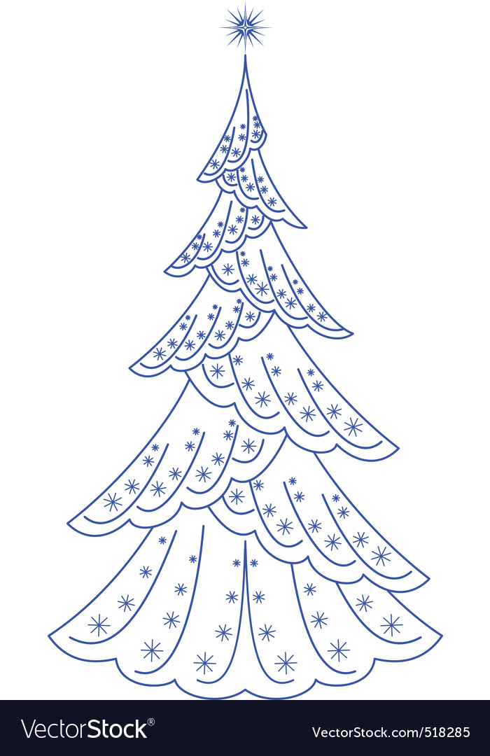 Christmas firtree pictogram vector | Price: 1 Credit (USD $1)