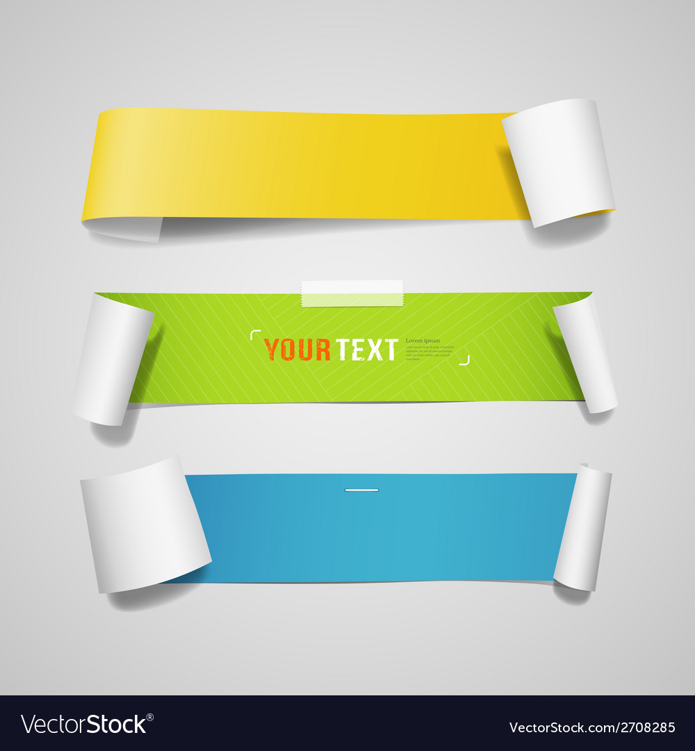 Colorful paper roll long collections design vector | Price: 1 Credit (USD $1)