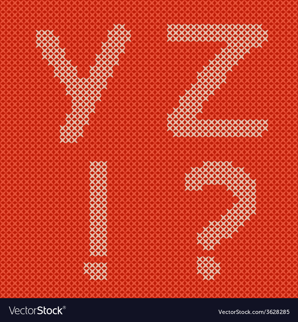 Embroidering alphabet vector | Price: 1 Credit (USD $1)