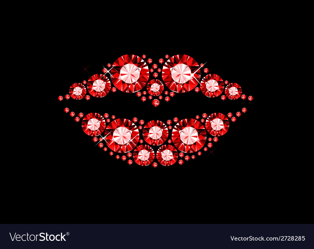 Gem lips vector | Price: 1 Credit (USD $1)