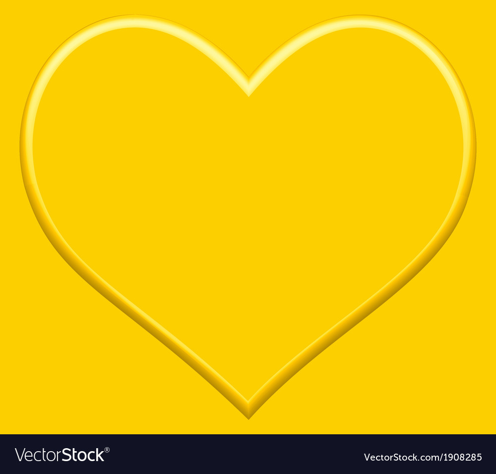 Gold heart vector | Price: 1 Credit (USD $1)