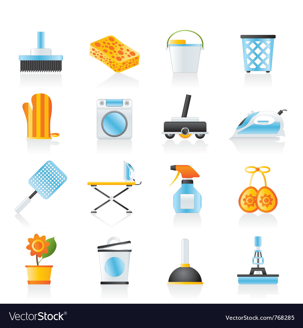 Household objects and tools icons vector | Price: 3 Credit (USD $3)