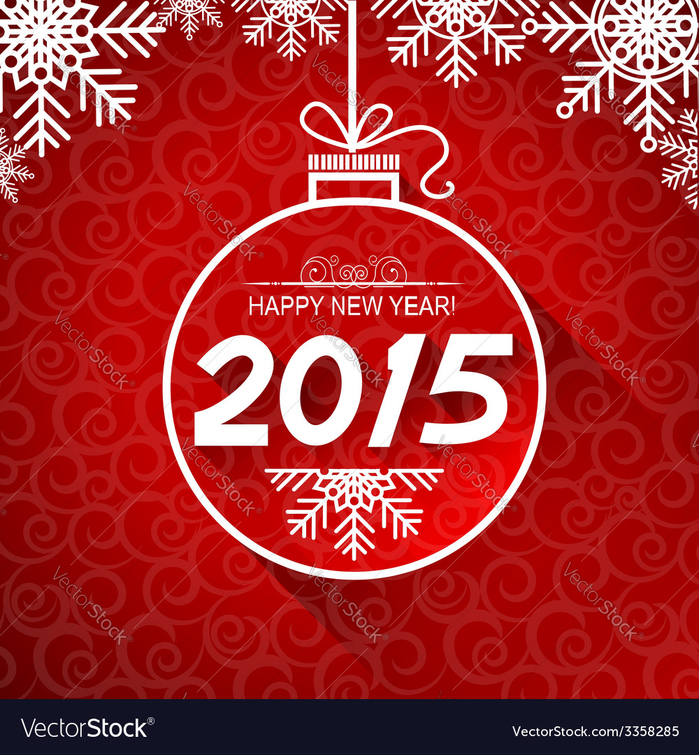 New year card with snoflakes vector