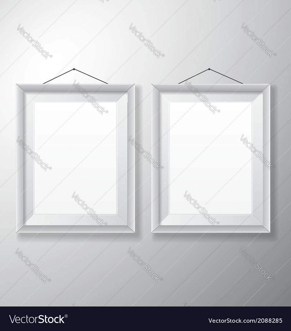 Picture frames white vertical vector | Price: 1 Credit (USD $1)