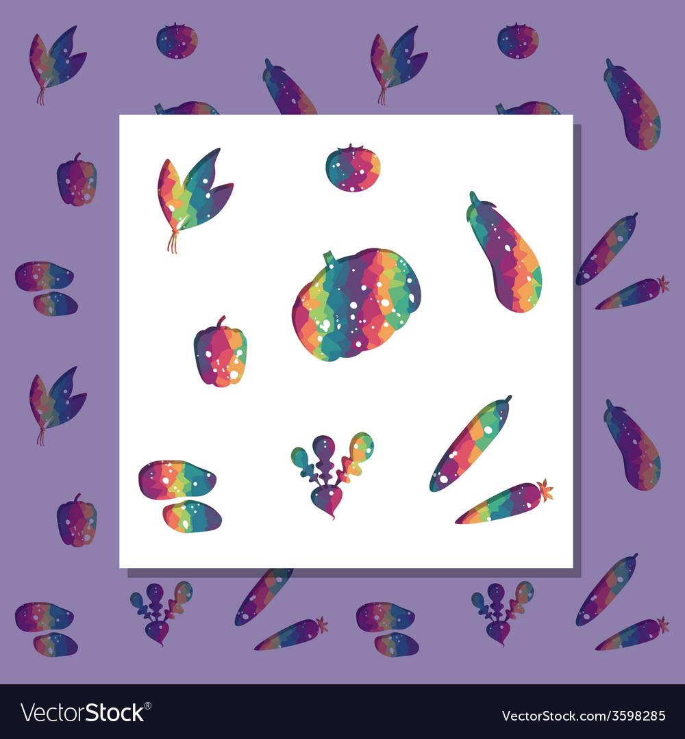 Rainbow vegetables vector | Price: 1 Credit (USD $1)