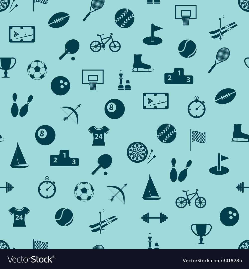 Seamless sport pattern vector | Price: 1 Credit (USD $1)