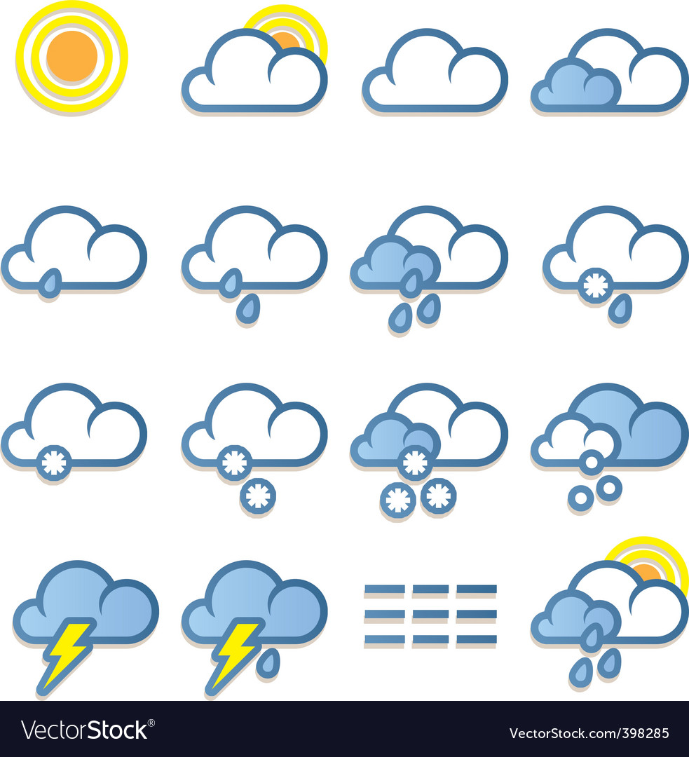 Weather forecast icon vector | Price: 3 Credit (USD $3)