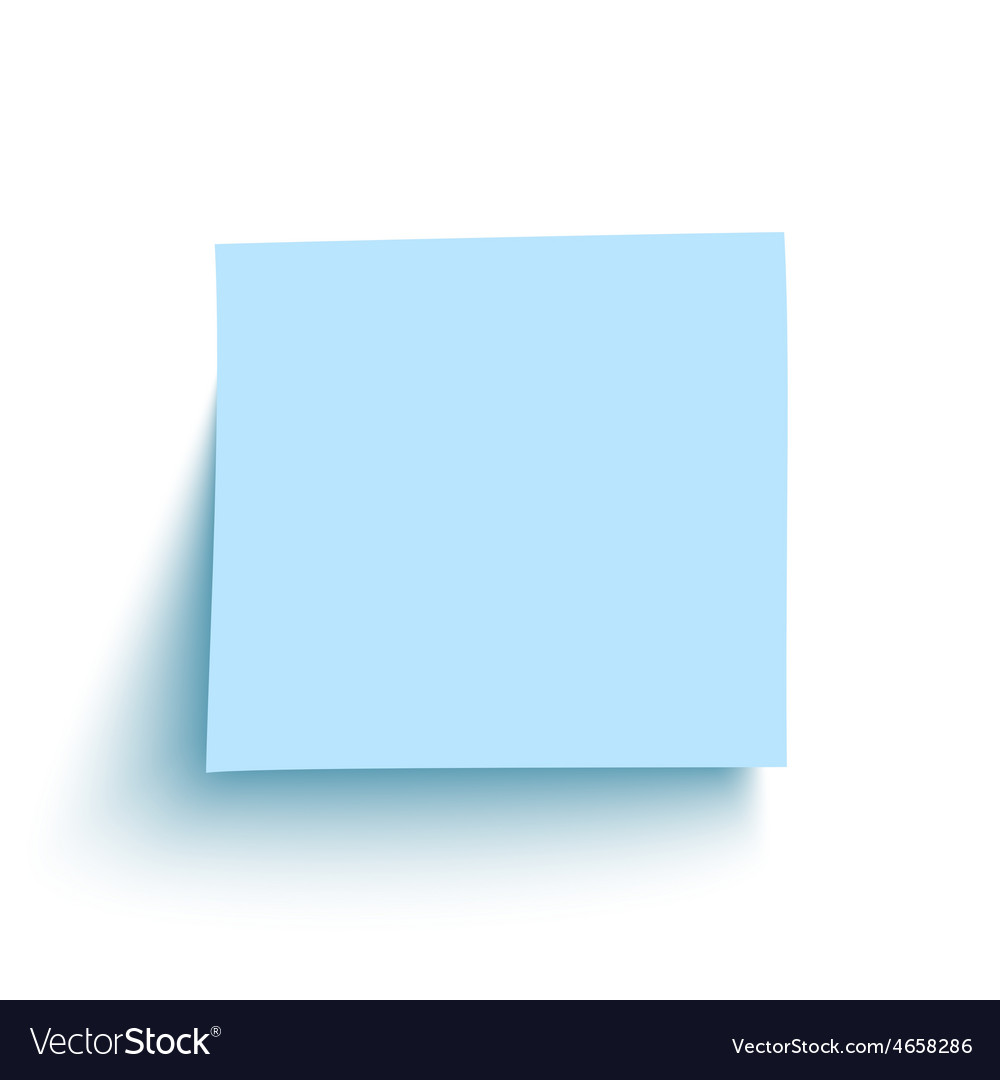 Blue sticky note isolated on white background vector   Price: 1 Credit (USD $1)