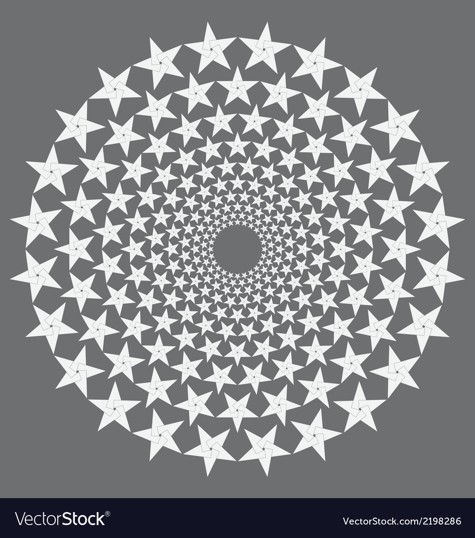 Circular stars vector | Price: 1 Credit (USD $1)