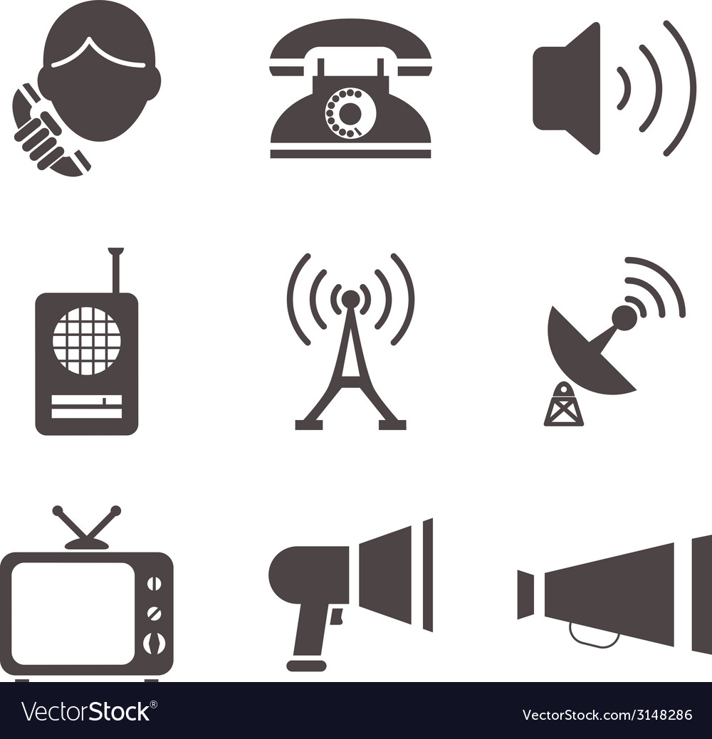Communication business information media web icons vector | Price: 1 Credit (USD $1)