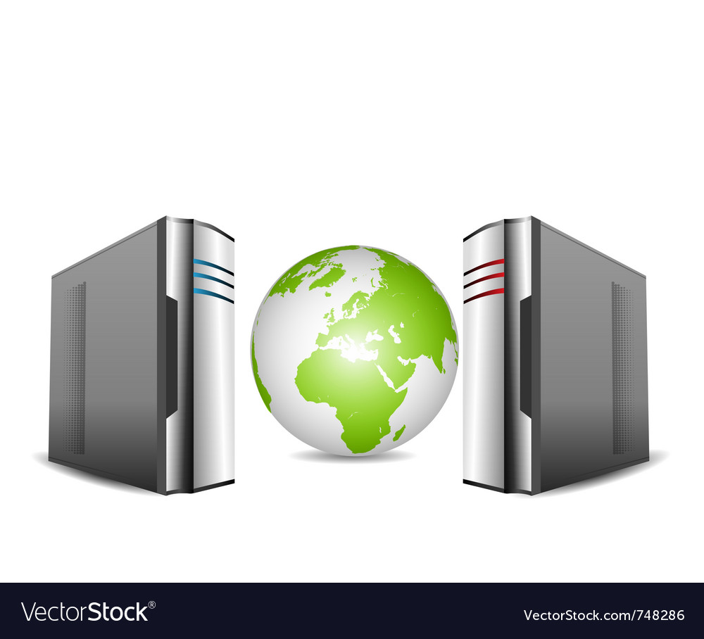 Computer servers vector | Price: 1 Credit (USD $1)