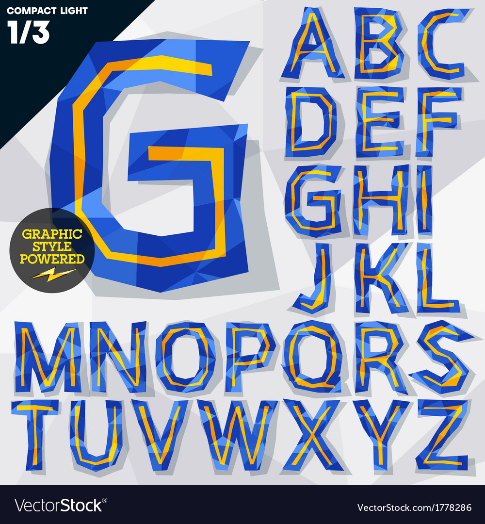 Crumpled paper alphabet vector | Price: 1 Credit (USD $1)