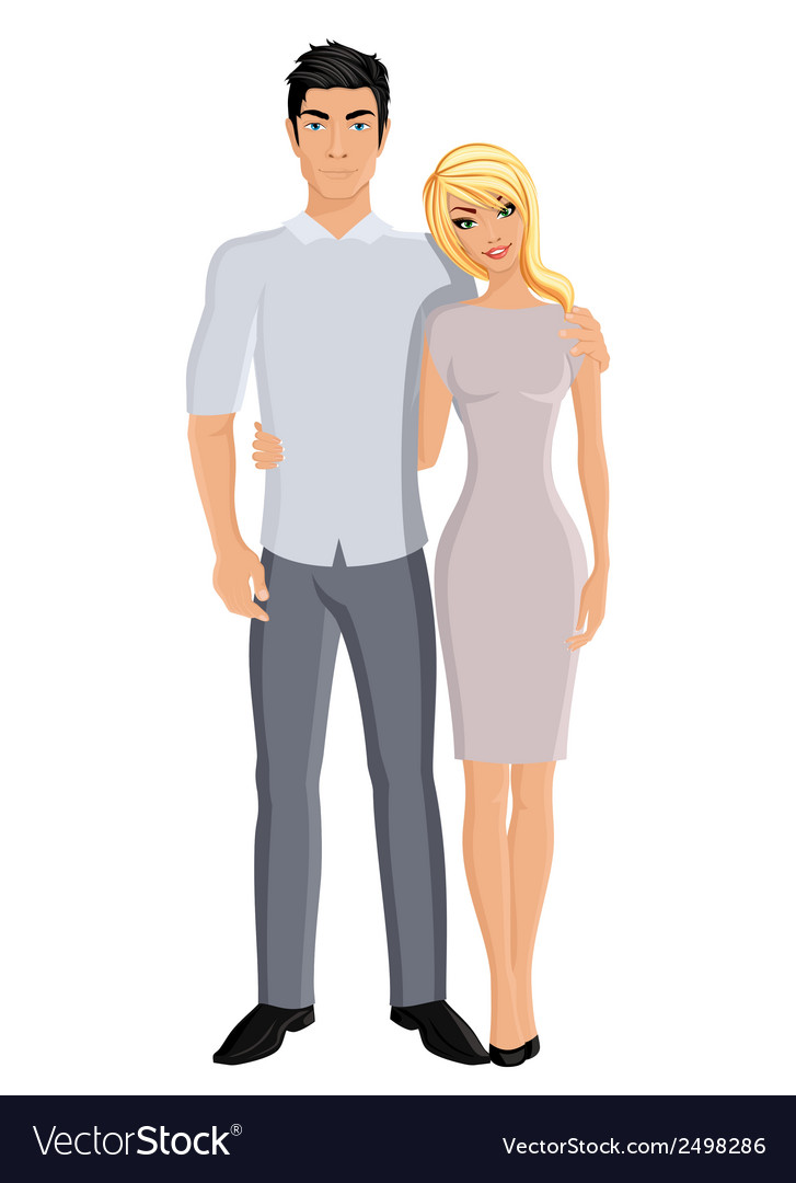 Husband and wife vector | Price: 1 Credit (USD $1)