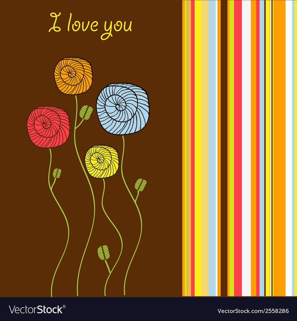 I love you - valentine card vector | Price: 1 Credit (USD $1)