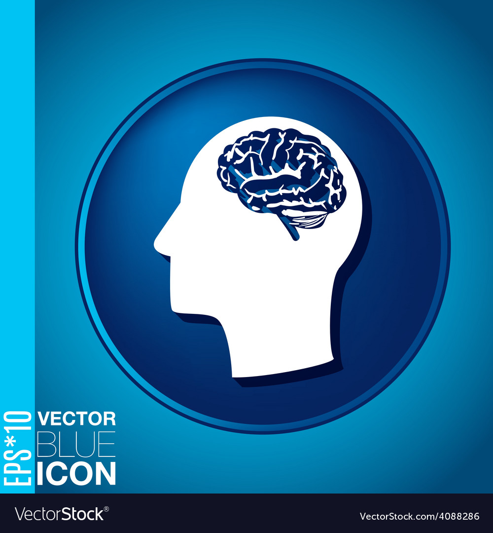Icon head think silhoutte man and his mind about b vector   Price: 1 Credit (USD $1)