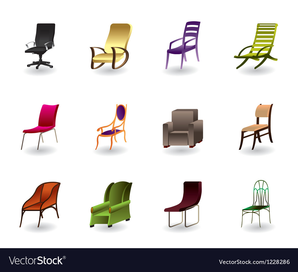Luxury interior office and plastic chairs vector | Price: 1 Credit (USD $1)